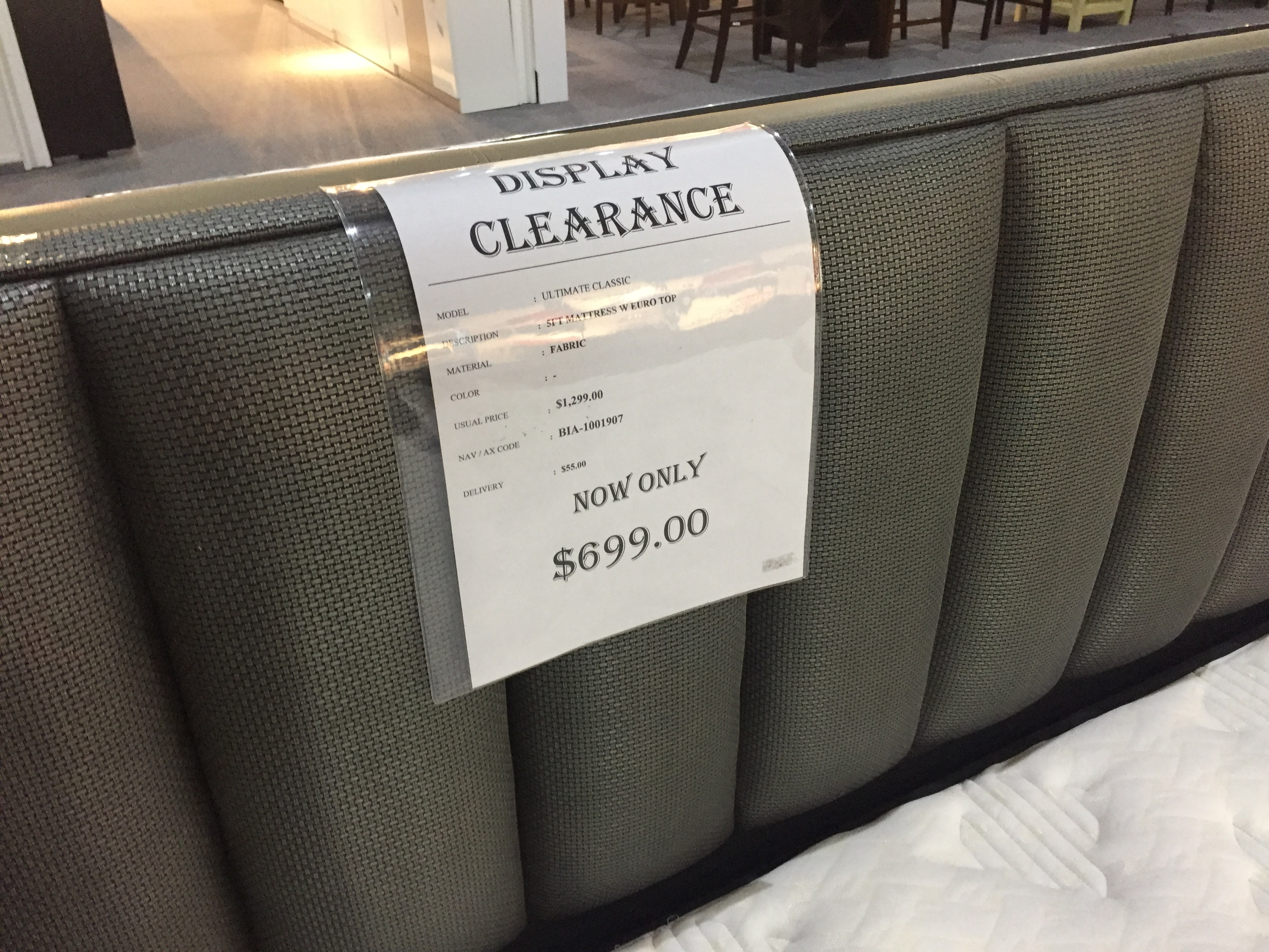 Sale price for bed frame and mattress?