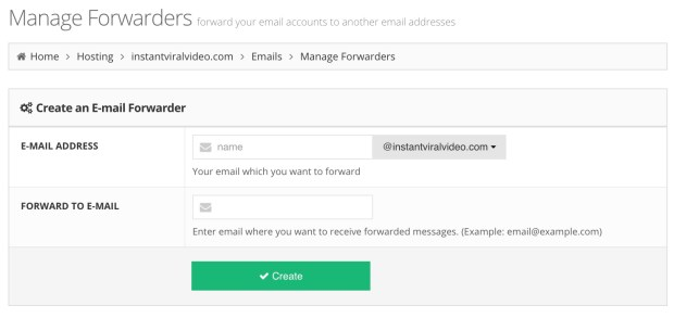 Hostinger Email Forwarder