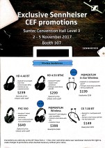 Sennheiser Headphones Deals @ CEF Show 2017 | Brochure pg1