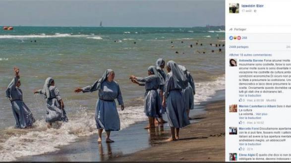 Polémica en Italia por fotos de monjas en la playa publicadas por un imán | El Universo