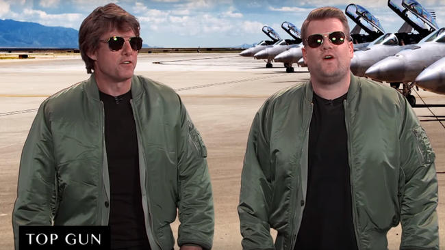 Tom Cruise recuerda sus grandes éxitos con James Corden [VIDEO]