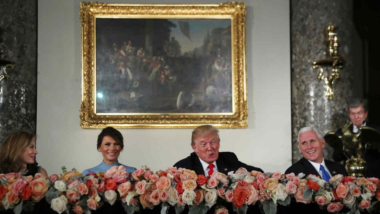 Así fue el menú del almuerzo que ofreció Donald Trump en su toma de posesión
