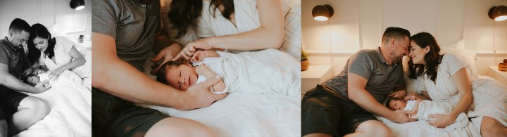 parent are completely in love during their newborn session