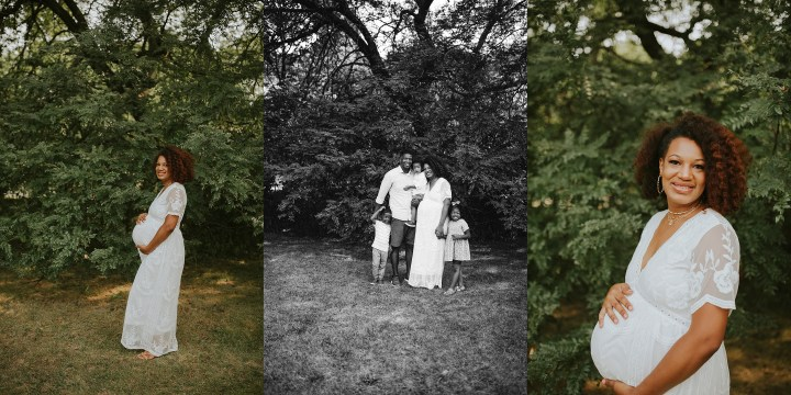 portraits of a maternity session in Hyde park