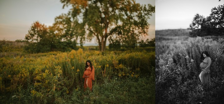 maternity session field