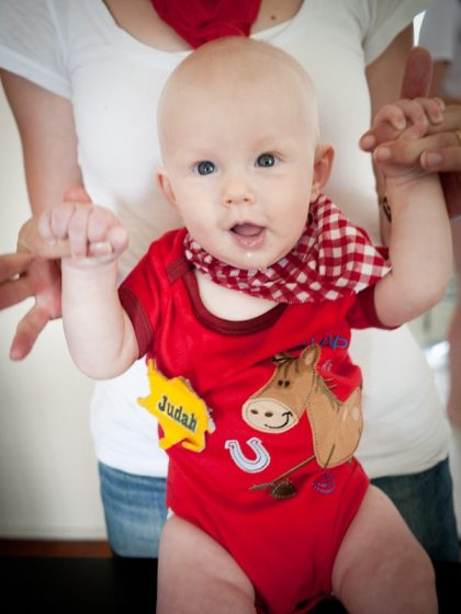 baby dressed as a cowboy