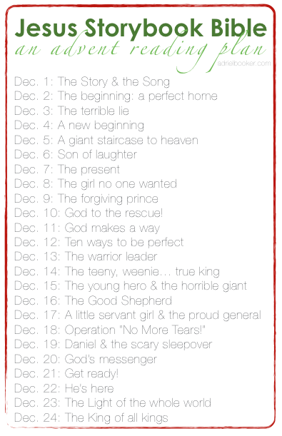 Jesus Storybook Bible - An Advent reading plan