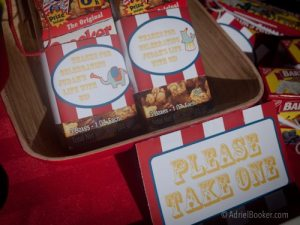 Judah's First Birthday Circus Party party favors