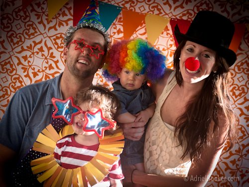 Judah's First Birthday Circus Party - the Bookers in the photo booth