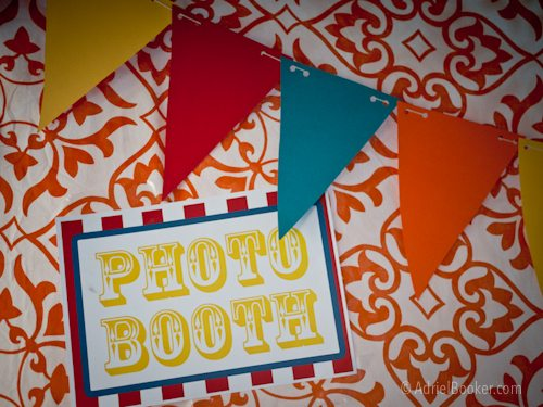 Judah's First Birthday Circus Party photo booth backdrop.