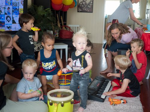 Rockstar Kids Birthday Party - let the kids go crazy with instruments for a song or two. Loud but super fun.