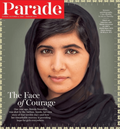 Courage, resilience, intelligence grace, and beauty - Malala Yousafzai.