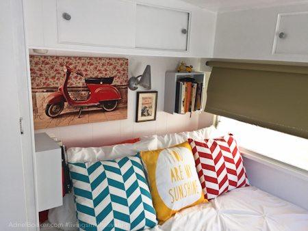 """Adriel Booker - Living in a Caravan-Camper - """"master"""" bedroom"""