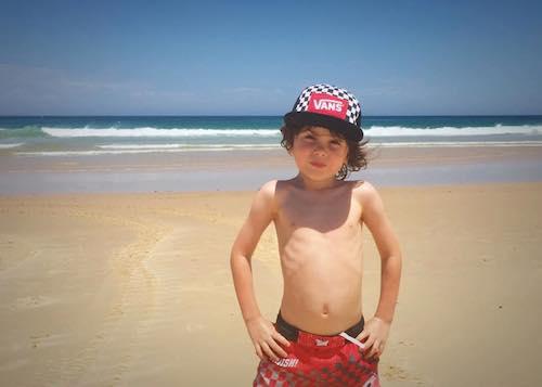 levi at the beach