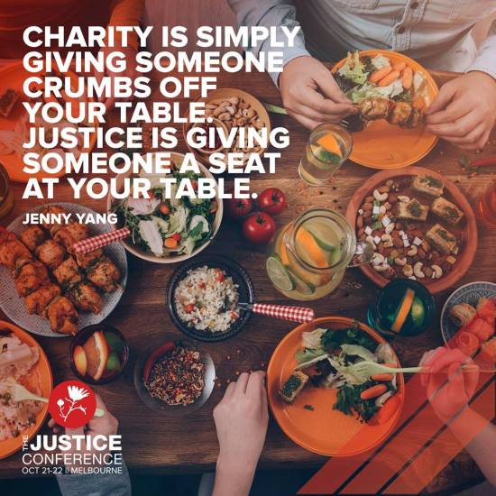 Charity is sharing your table
