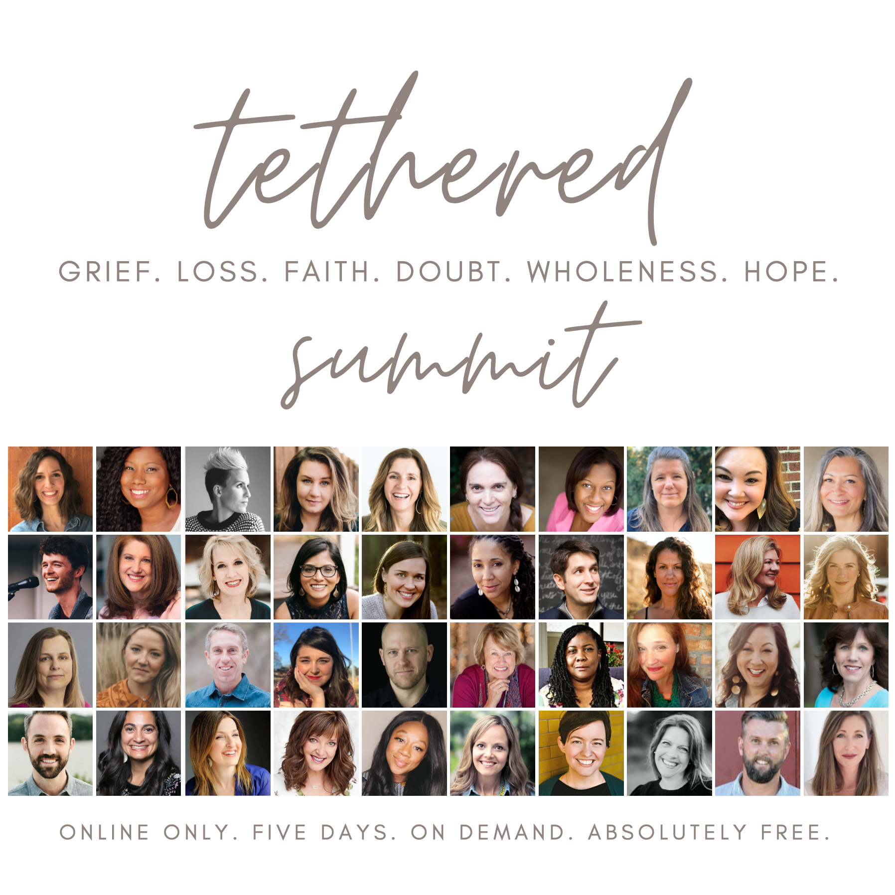 Tethered Summit — Grief. Loss. Faith. Doubt. Wholeness. Hope. — with Adriel Booker