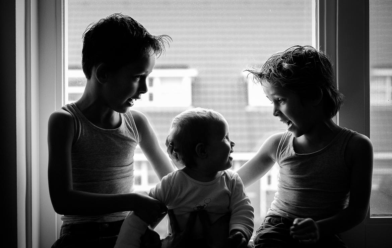 Spontane kinderfotos in zwartwit  portfolio van