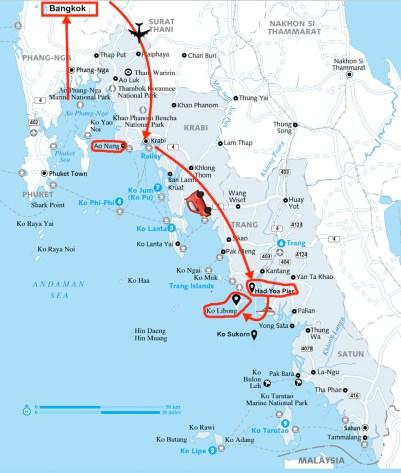 Trip from Loas to Ko Libong