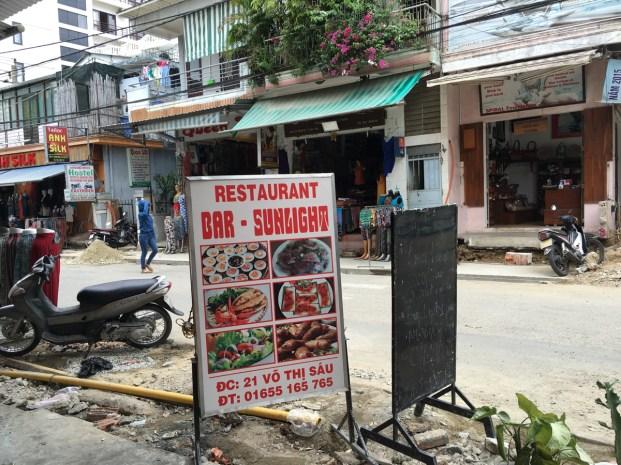 A favourite restaurant