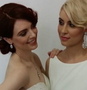 2 models wear bridal styles.