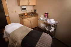 A skin care treatment room.