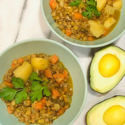 Healthy Lentils With Potatoes