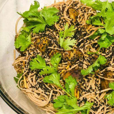 Miso, Eggplant & Soba Noodle Salad