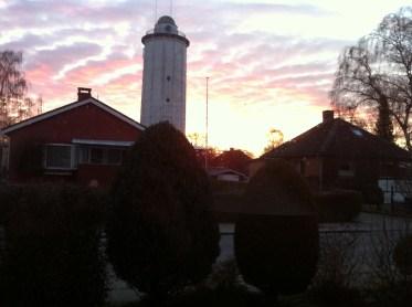Hvidovre Vandtårn: sunset