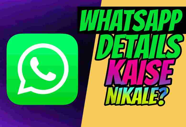WhatsApp Details Kaise Nikale? WhatsApp Chat History And Call Details