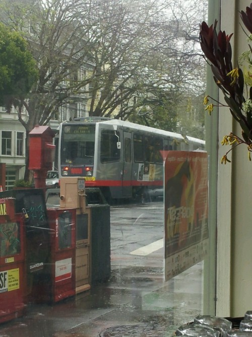 MUNI to the rescue on the torrential downpour of the year in San Francisco.
