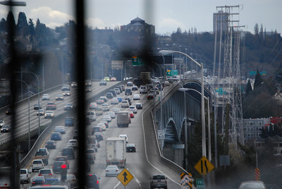I-5 Crossing the Waterway into Seattle