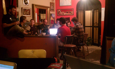 Ruby on Rails meetup at Cafe Racer - Corner Table