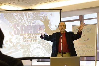 Ward Cunningham Presenting at CyborgCamp. Photo: Mark Coleman http://markcolemanphoto.com/