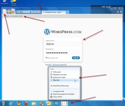 IE9 Pinning for WordPress