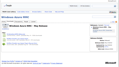 Windows Azure MMC Code Site