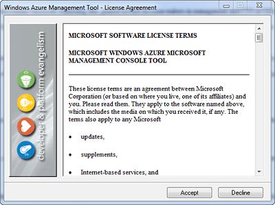 Windows Azure Management Tool Installation