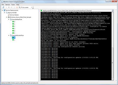 SampleWorkerRole Instance Status
