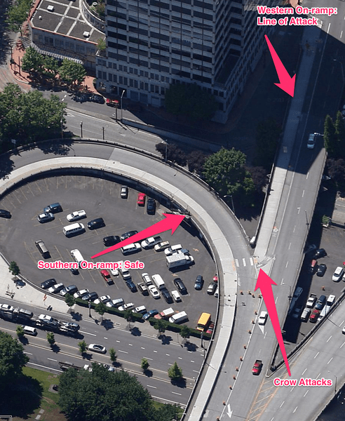 Approaches to Morrison Bridge. Click for full size image.