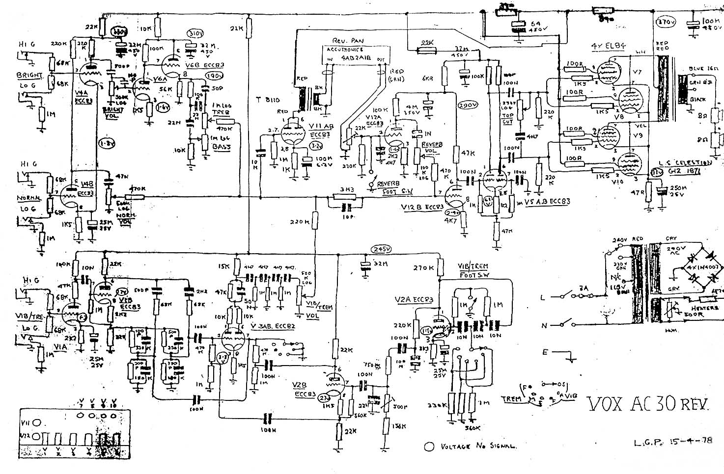amp diagram vox vintage circuit diagrams amp wiring diagram