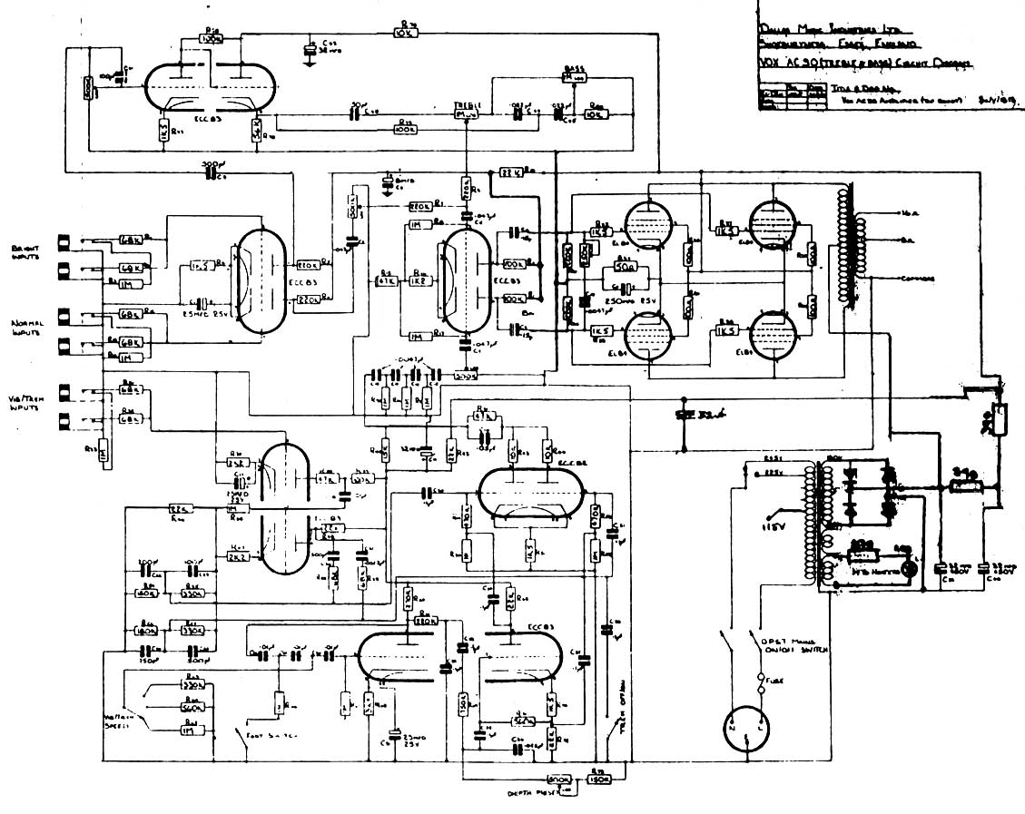 Vox Pickup Wiring Diagrams