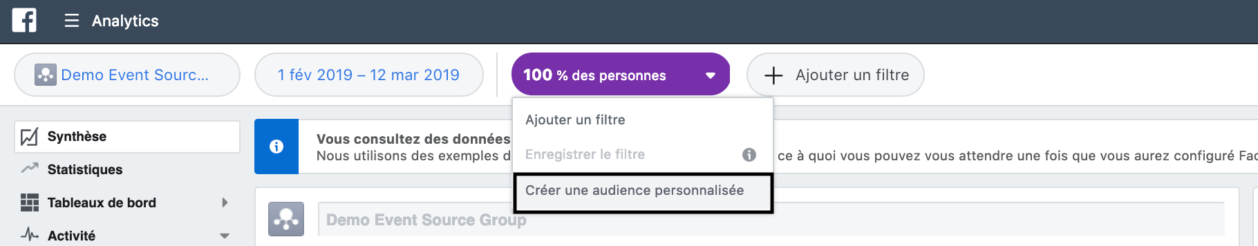 mesurer campagnes facebook analytics