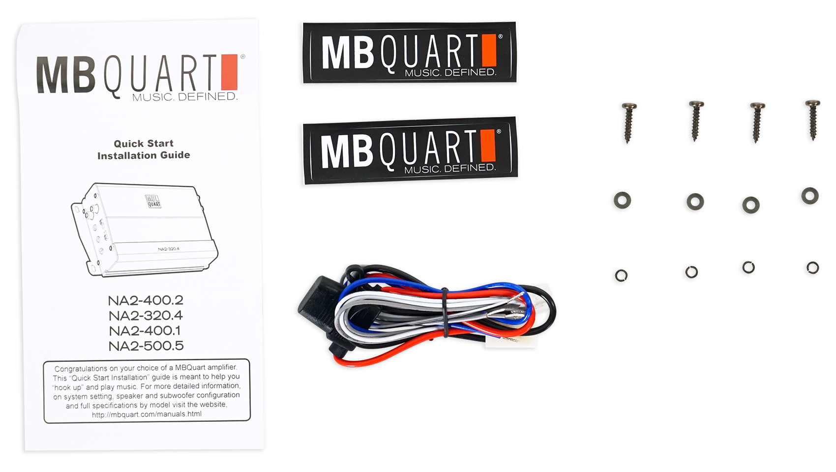 MB QUART NA2-400.2 400w 2-Channel Amplifier Amp For