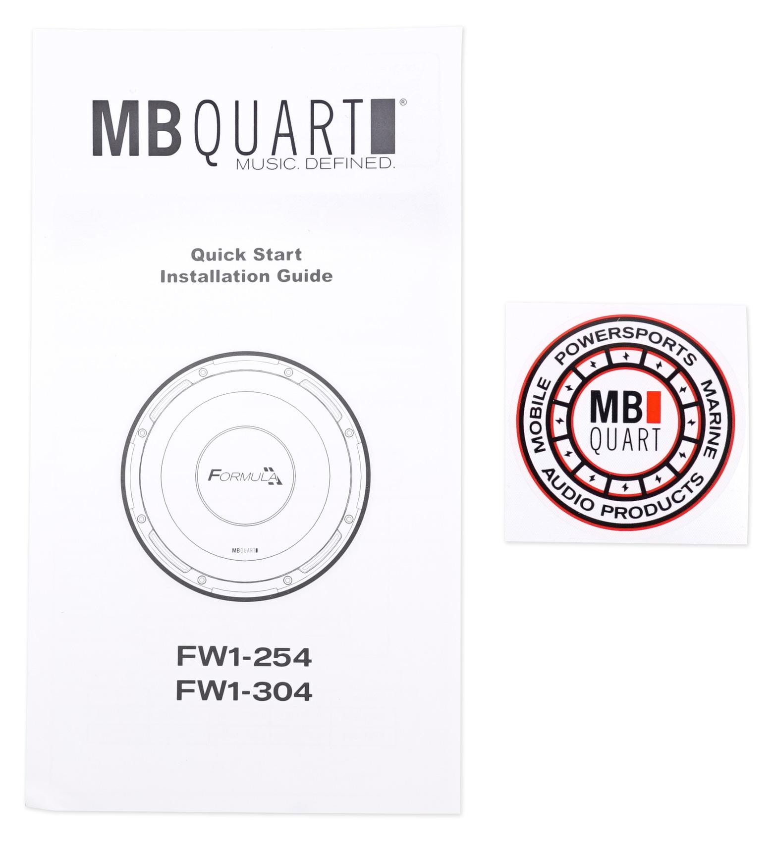 (2) MB QUART FW1-304 12