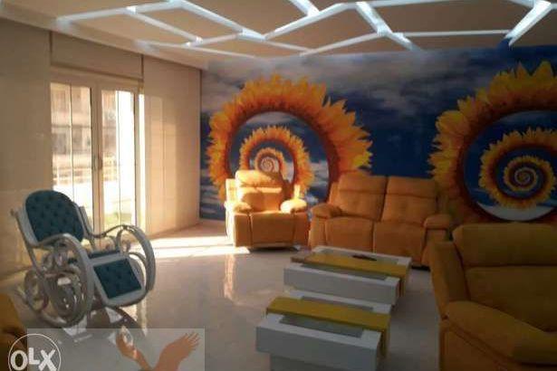 شقة مفروشه للايجار في دجله المعادي 3غرف 2حمام فرش فاخر