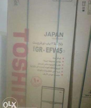 ثلاجة توشيبا 3 باب بسعة 340 لتر لون سيلفر نوفروست GR-EFV45-S