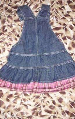 فستان جينز بناتي مقاس سنة ونص ل3 سنوات حسب جسم البنوتة