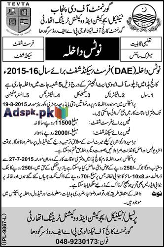 How to Apply Govt. College of Technology PAF Road Sargodha