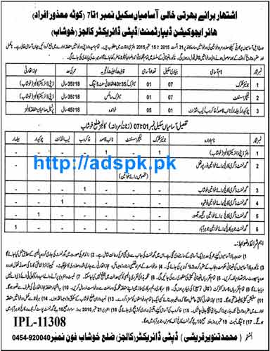 How to Apply Jobs of Higher Education Department Khushab