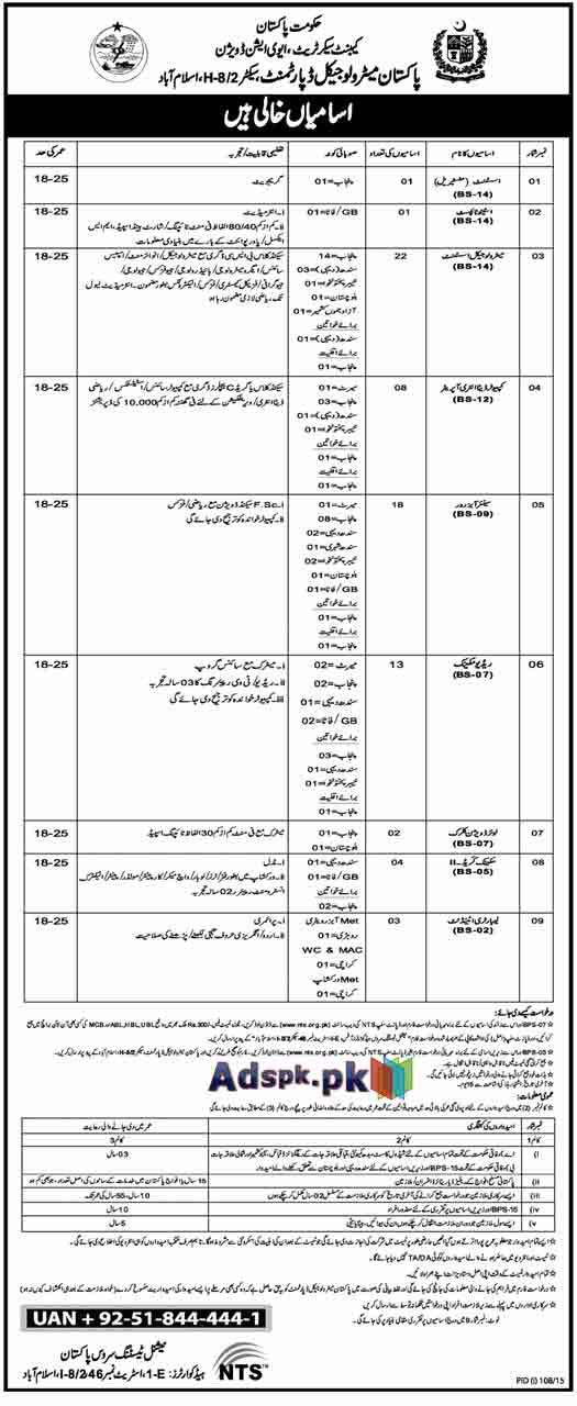How to Apply Jobs of Pakistan Meteorological Department