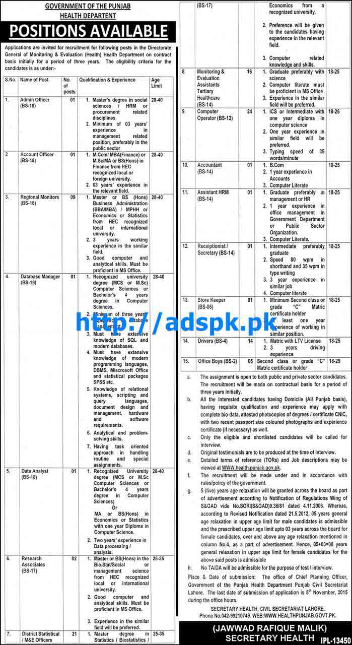 How to Apply New Jobs of Health Department Punjab Jobs